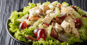 Rotisserie Chicken Salad with Pecans, Celery and Grapes