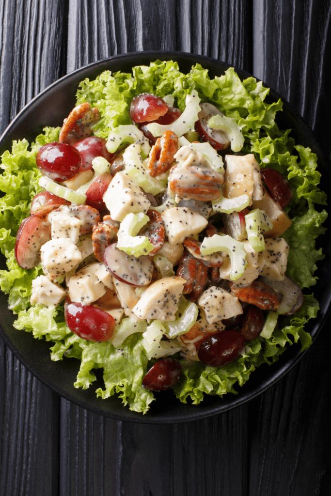 Rotisserie Chicken Salad with Vegetables