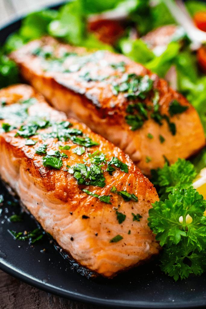 Salmon Steak with Herbs