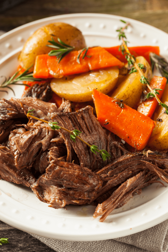 Slow Cooker Pot Roast with Carrots and Potatoes
