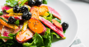 Summer Salad with Vegetables and Berries