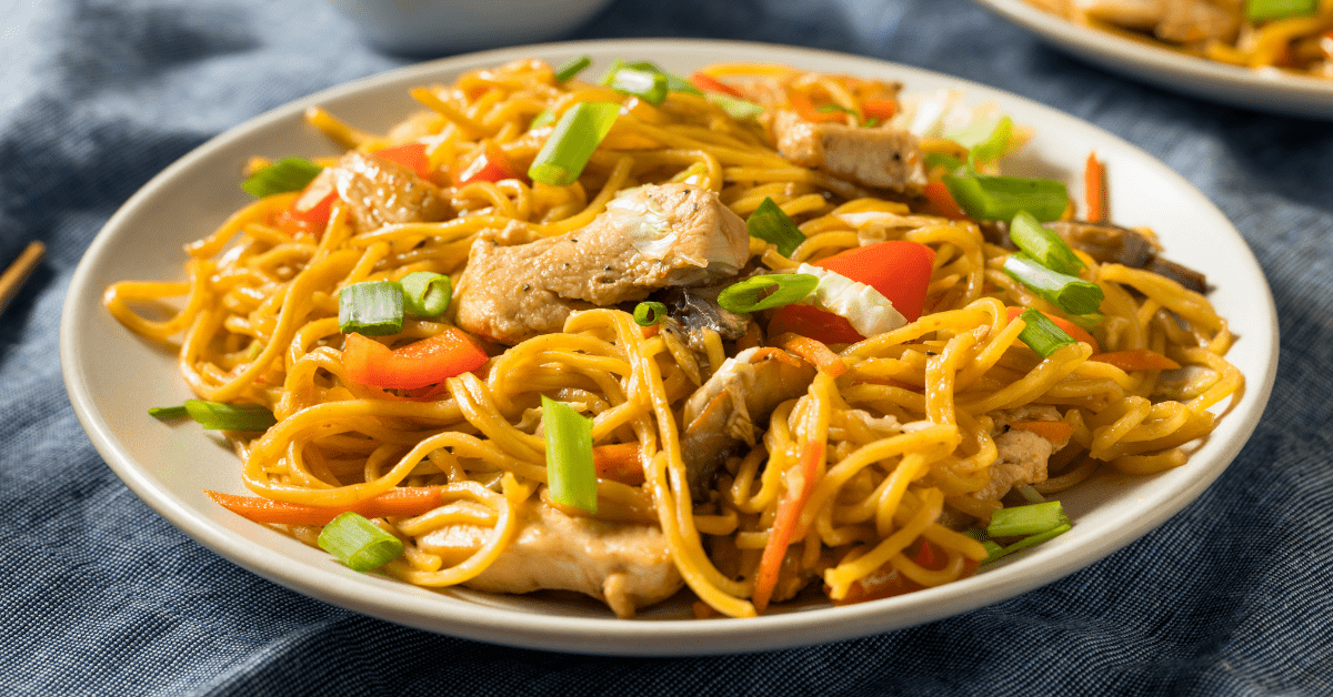 Yakisoba Chicken with Vegetables