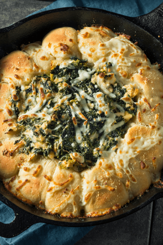 Homemade Spinach Dip with Bread Ring