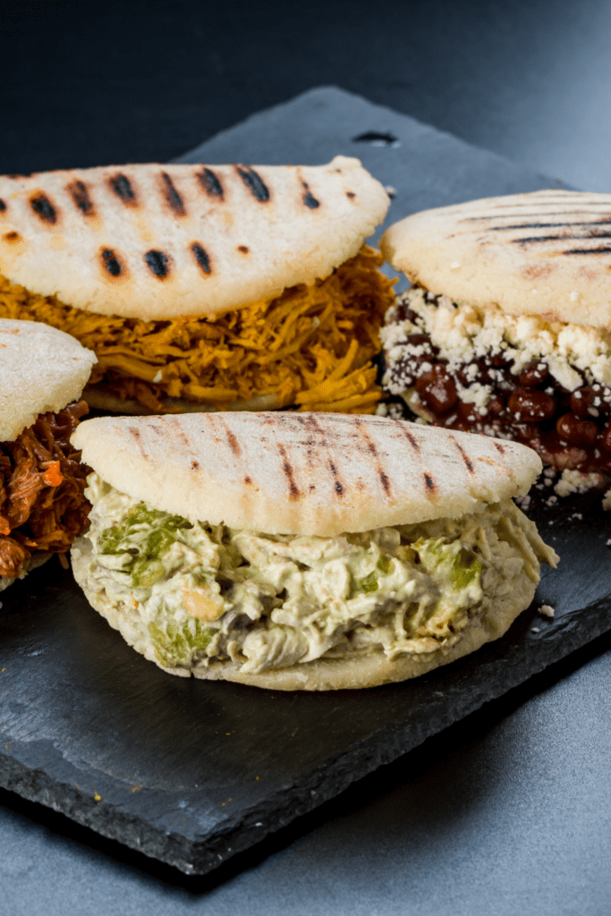Assorted Arepas with Different Stuffing