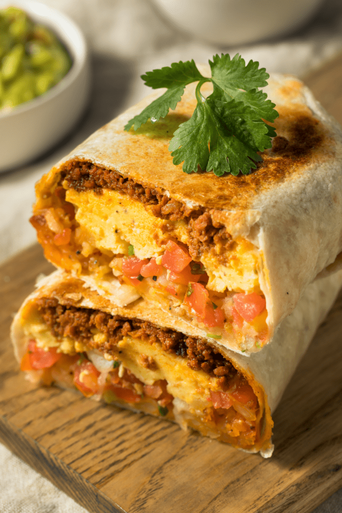Breakfast Burritos and Chorizo and Egg