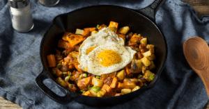Breakfast Potato Hash with Fried Eggs