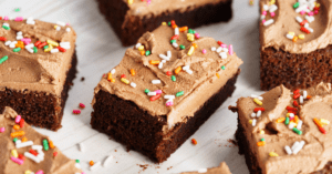 Buttercream Chocolate Cake with Colorful Sprinkles