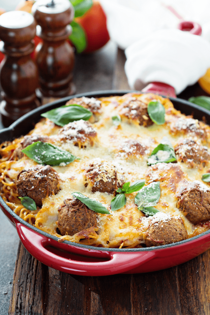 Cheesy Meatballs Casserole
