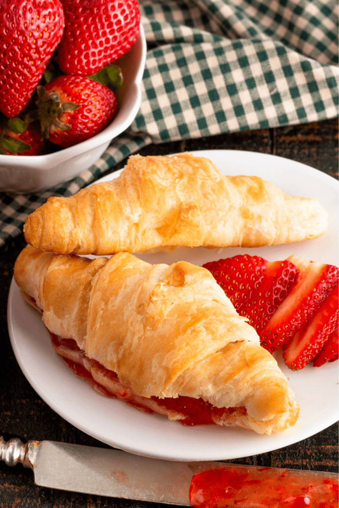 Croissants filled with Strawberry Jam