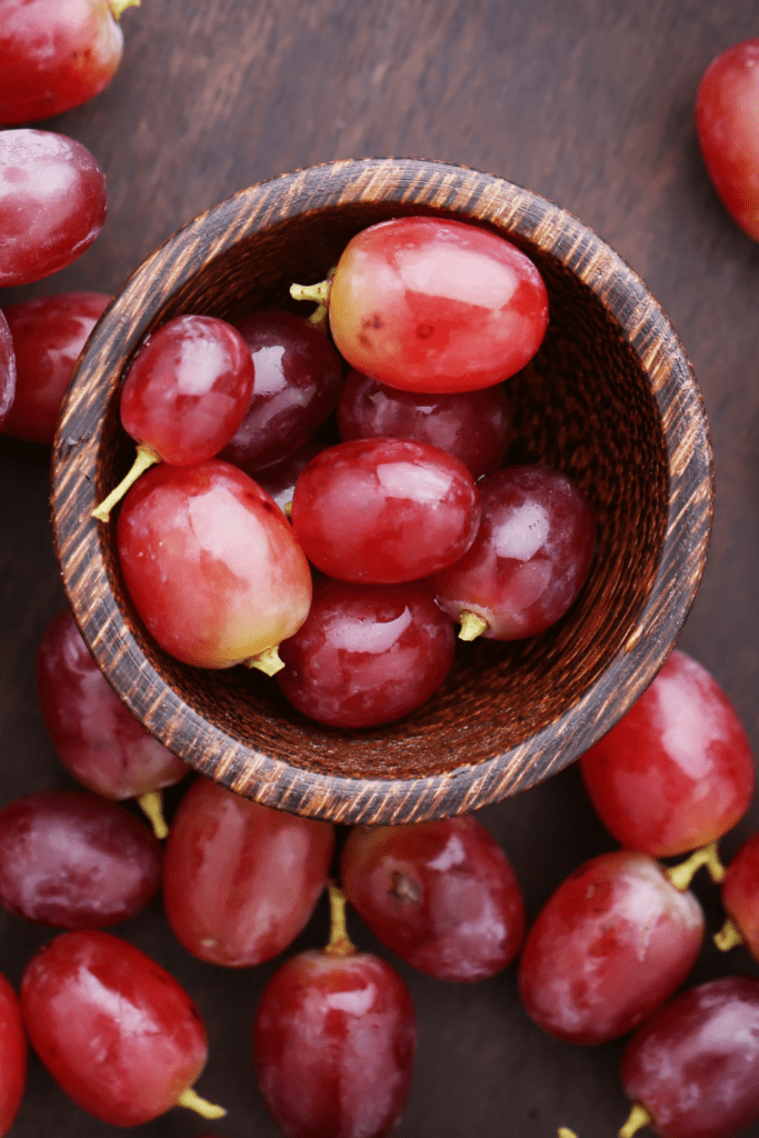 Fresh Grapes in a Bowl