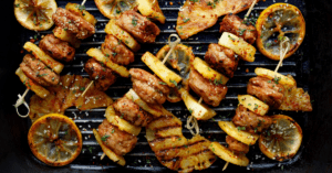 Grilled Kabobs with Pineapple and Chicken