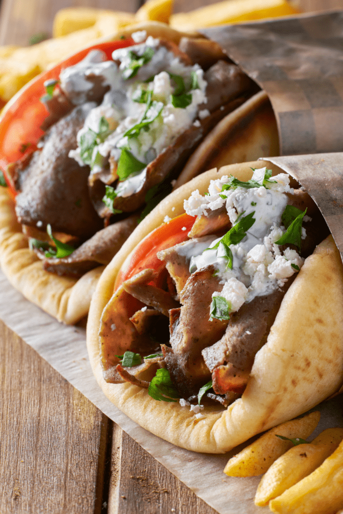 Gyros with Shaved Lamb