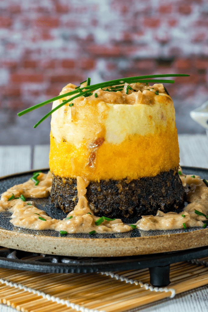 Haggis with Turnips and Potatoes