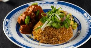 Homemade Malaysian Chicken Rendang with Biryani Rice