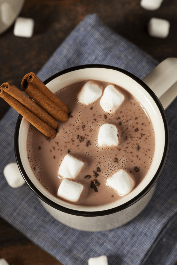 Hot Chocolate with Cinnamon and Marshmallows