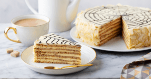 Hungarian Torte Cake with Coffee