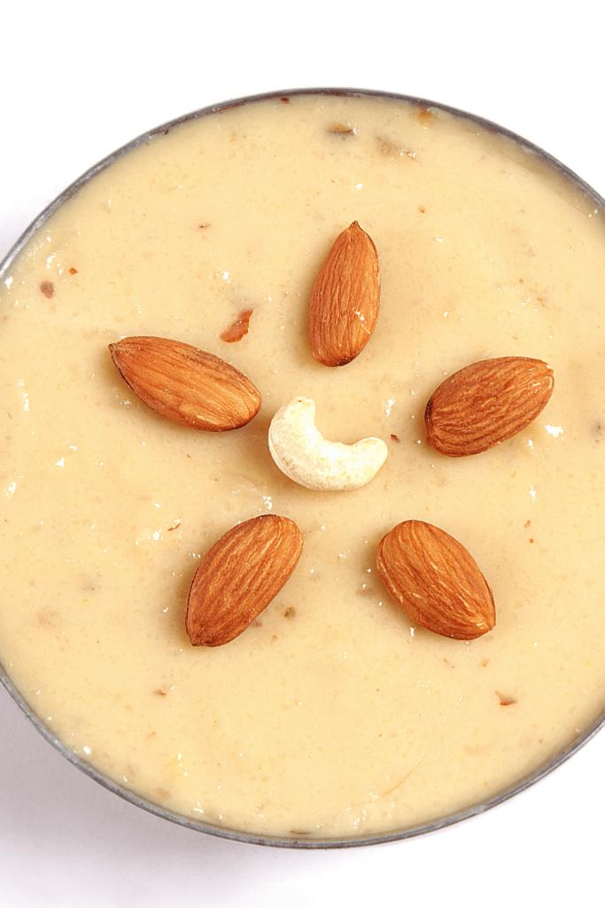 Indian Sweet Kheer Dessert with Almonds