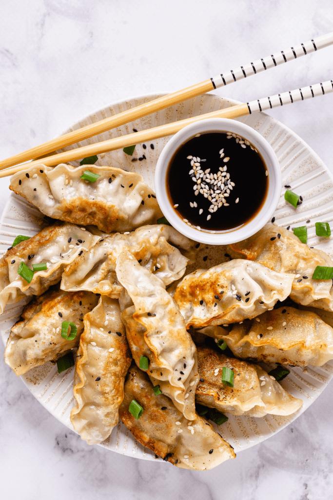 Japanese Fried Dumplings or Gyoza