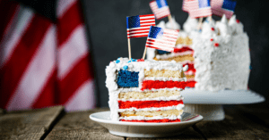Layered Pound Cake with American Flag