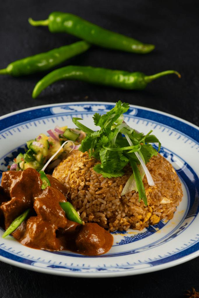 Malaysian Chicken Rendang with Biryani Rice