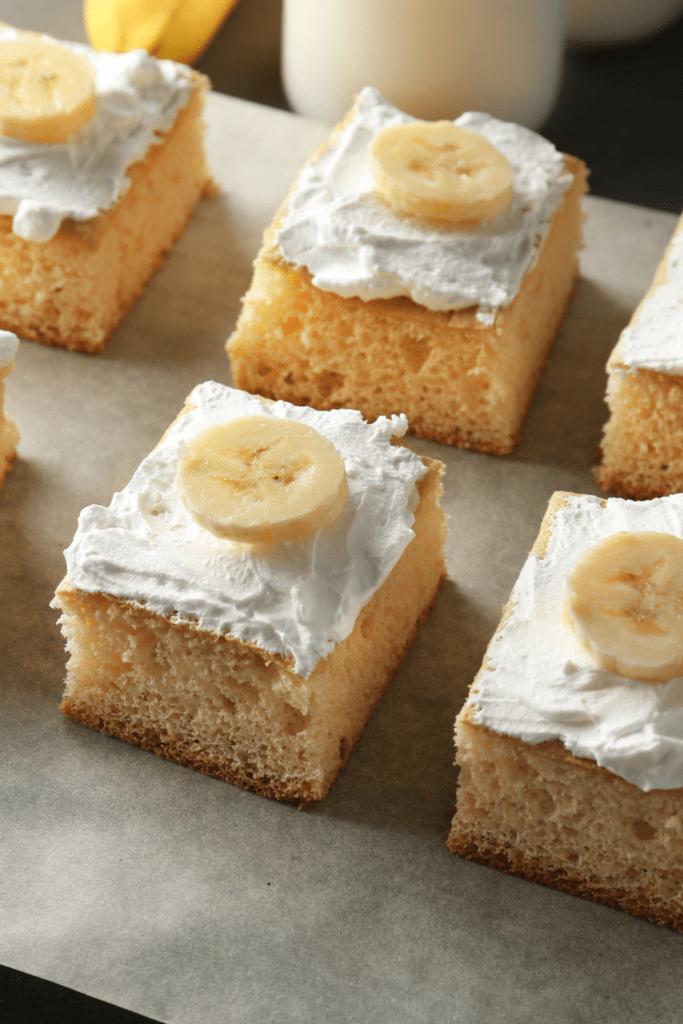 Pieces of Banana Cake