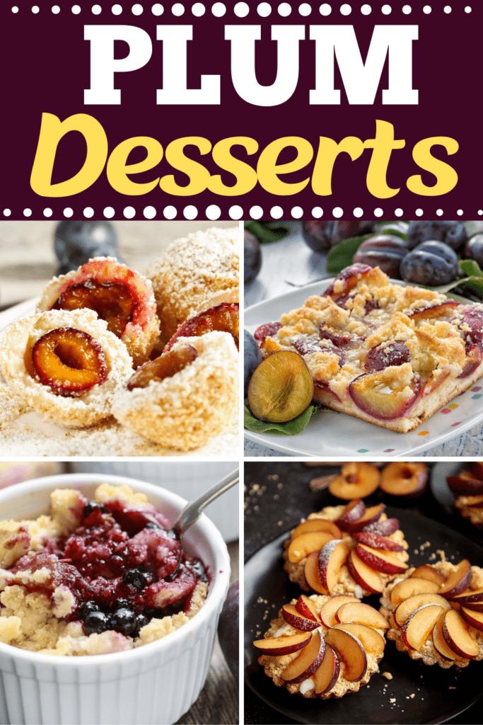 Plum Desserts