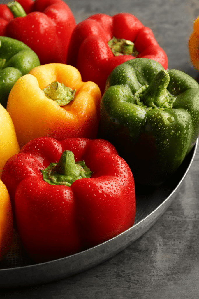 Red, Yellow and Green Peppers