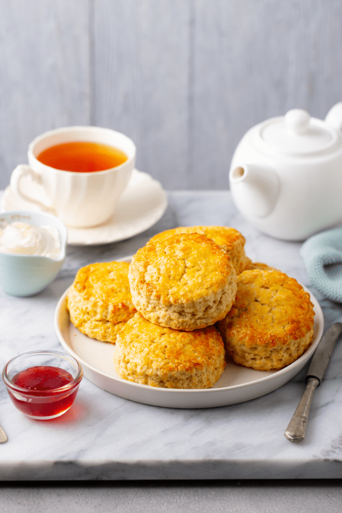 Scones with Clotted Cream and Tea