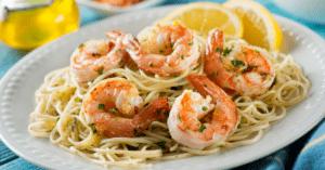 Shrimp Scampi with Lemons