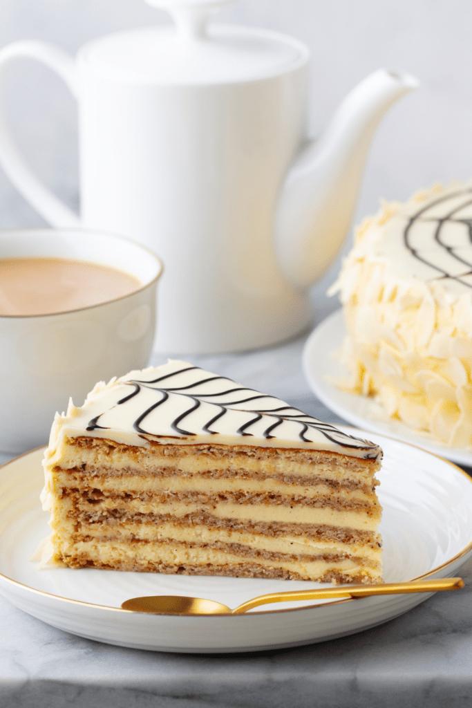 Slice of Hungarian Torte Cake