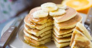 Sliced Vegan Banana Pancakes