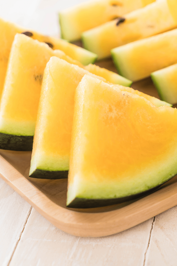 Slices of Yellow Watermelons