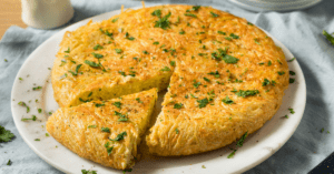 Spaghetti Omelette with Parsley
