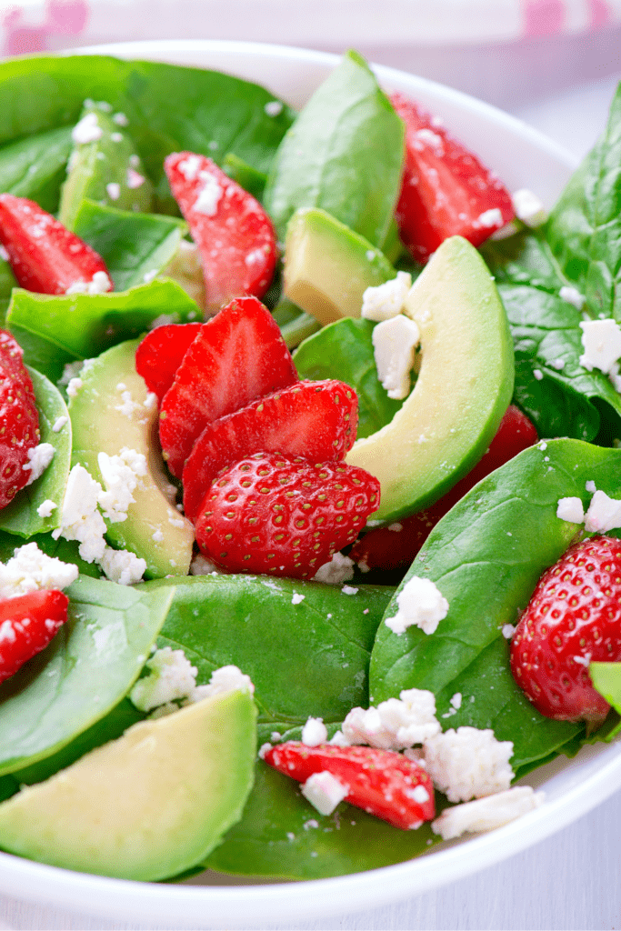 Summer Salad with Avocadoes and Strawberries