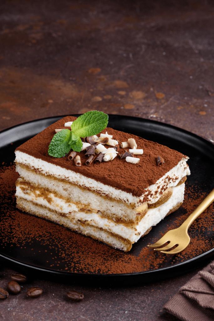 Tiramisu with Chocolate and Mint