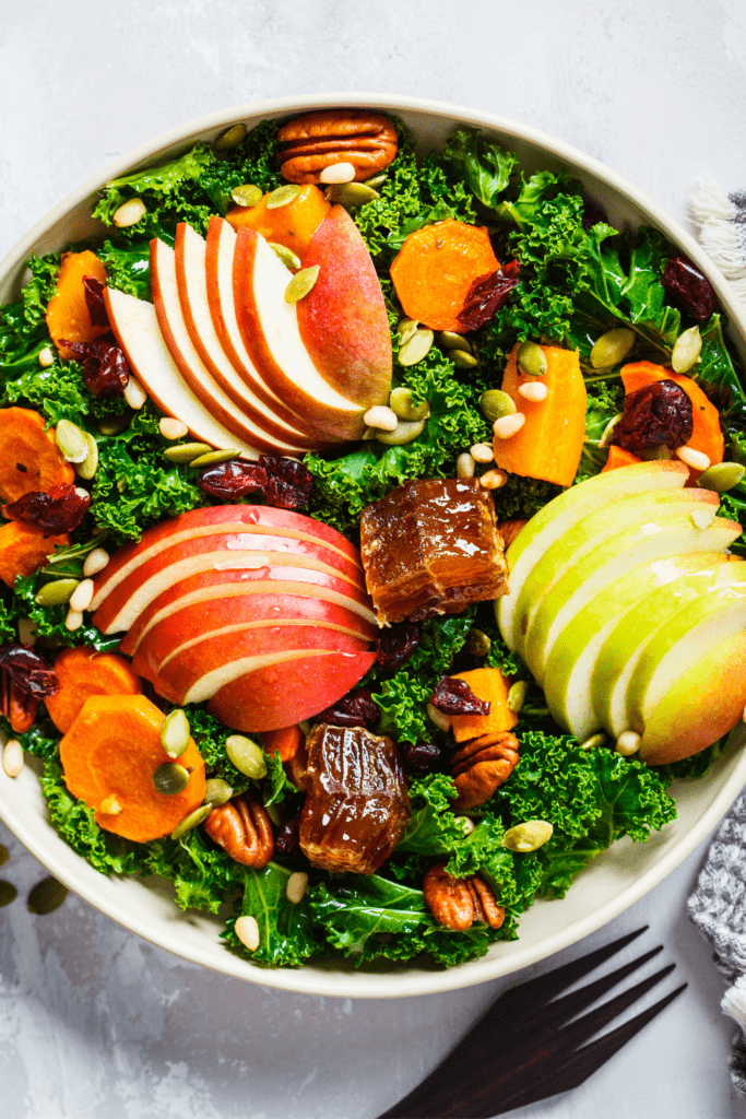 Winter Salad with Apples, Pumpkins and Cranberries