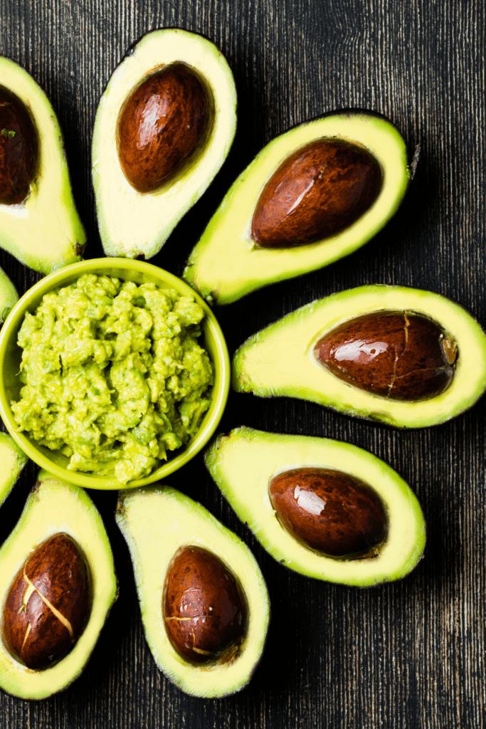 Avocado with Bowl of Guacamole