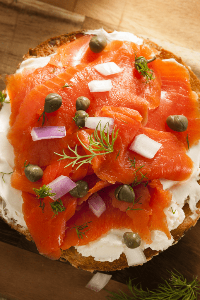 Bagel with Salmon Lox