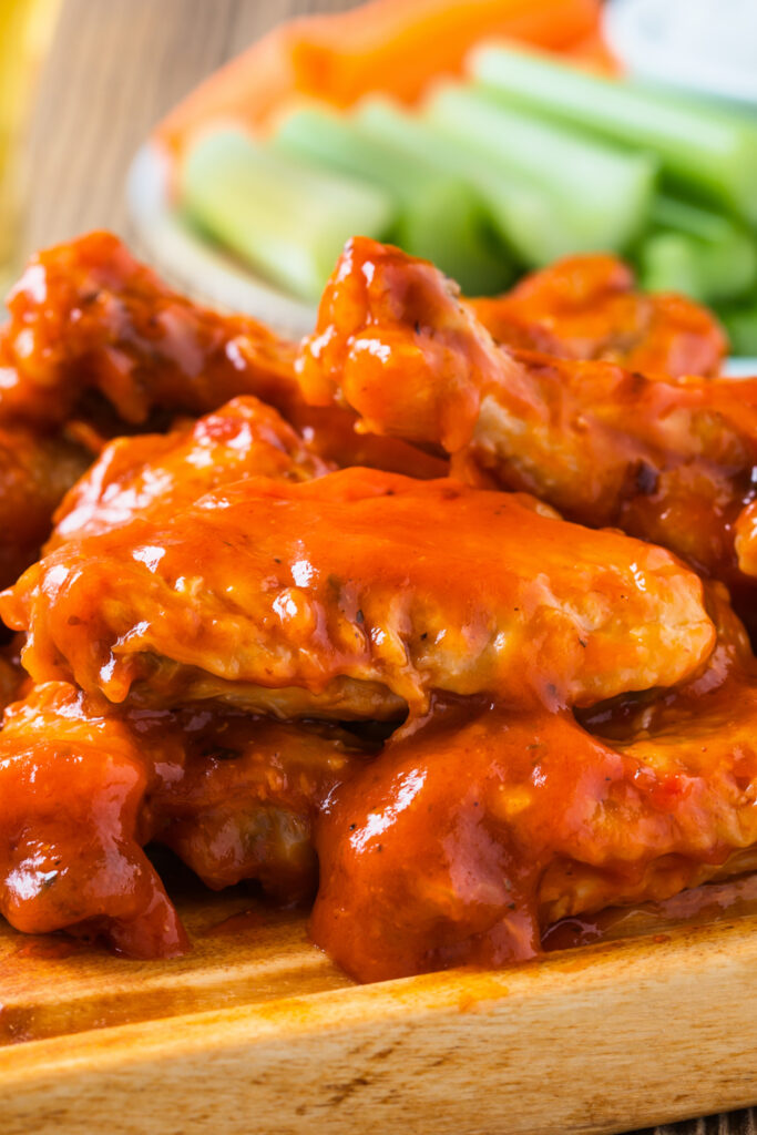 Buffalo Chicken Wings with Pepper Sauce