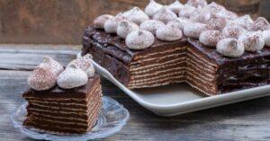 Chocolate-Matzo Layered Cake