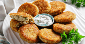 Cod Fish Cakes with Dipping Sauce