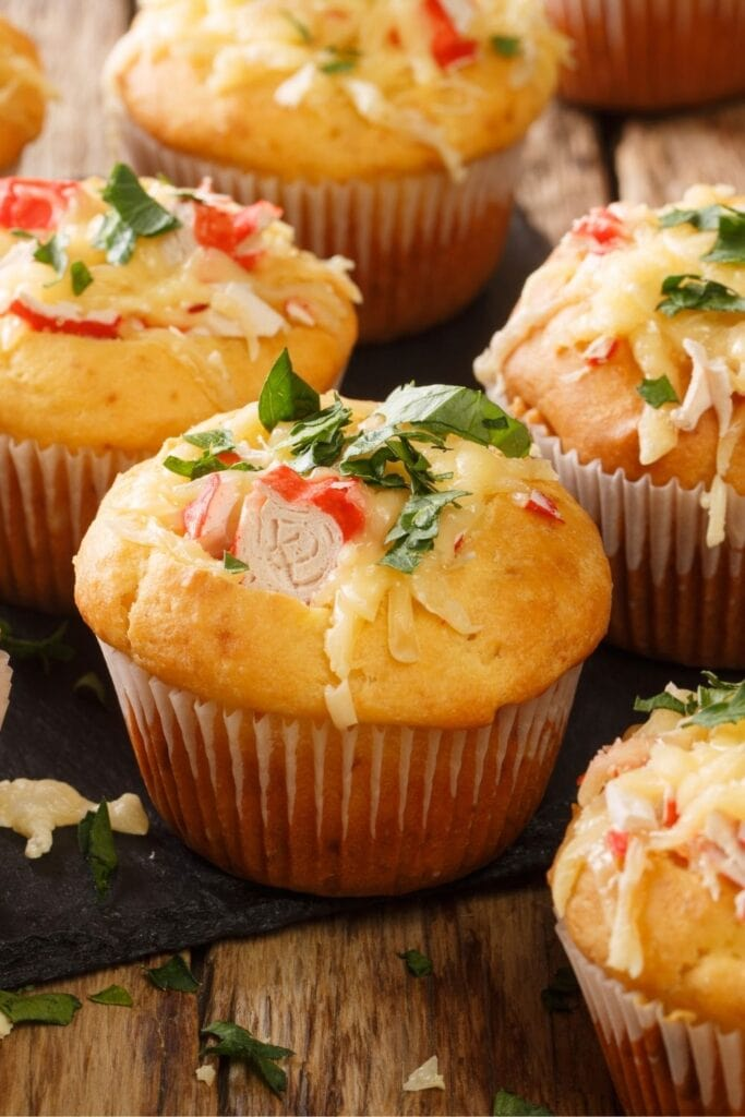 Corn Muffins with Cheese, Crab and Herbs