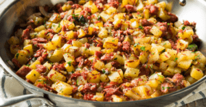 Corned Beef and Potato Hash in a Pan