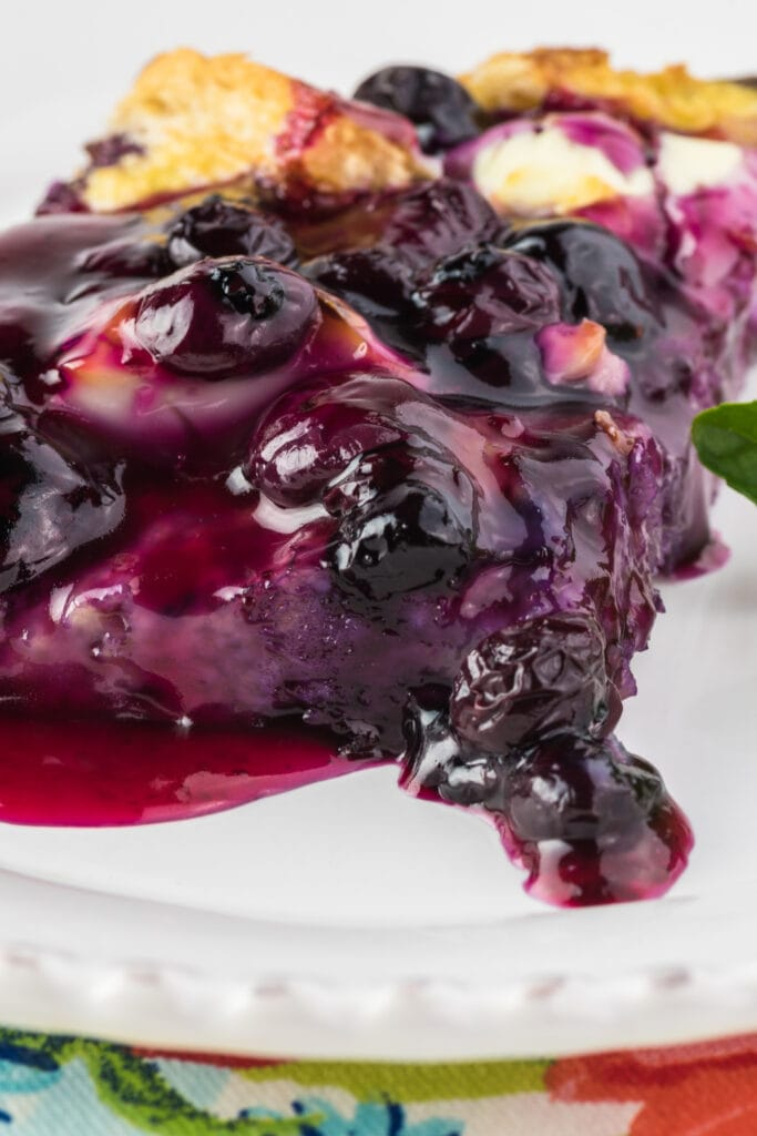 French Toast Casserole with Blueberry Sauce