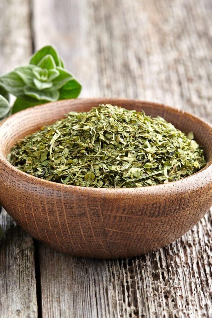 Organic Oregano in a Bowl