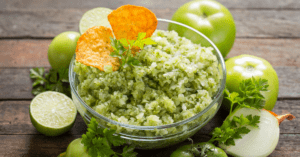 Green Tomato Salsa with Tortilla Chips