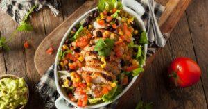 Homemade Chicken Burrito Bowl Salad