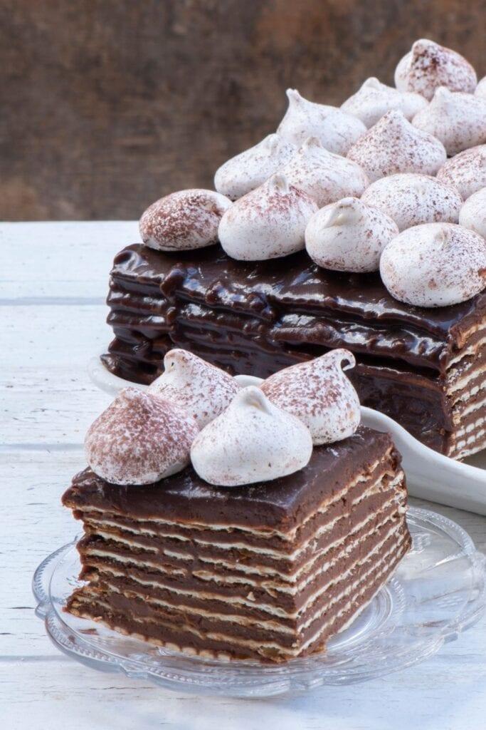 Homemade Chocolate-Matzo Layered Cake