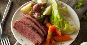 Homemade Corned Beef with Cabbage, Carrots and Potatoes