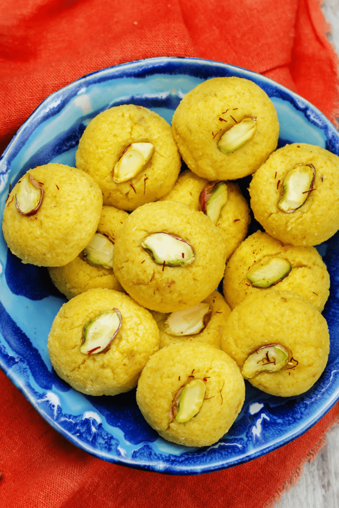 Homemade Mango Sandesh